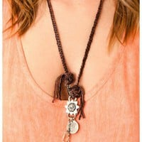Love Heals - Charm Leather Necklace