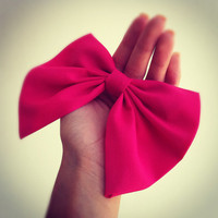 Pink BIG hair bow - Made of lightweight fabric