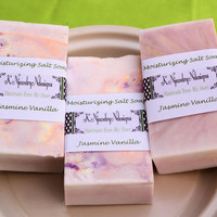 Moisturizing Dead Sea Salt Soap: Vanilla, Jasmine, Scented, Goats Milk