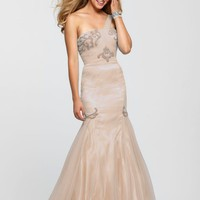 Clarisse 2156 Champagne Mermaid Dress