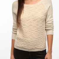 Silence & Noise Boucle Panel Sweater