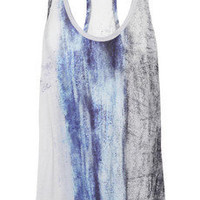 Helmut Lang Dune printed jersey tank - 65% Off Now at THE OUTNET