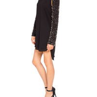Beaded Sleeve Shift Dress - 2020AVE