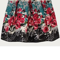 Primark Summer Bold Floral Pink Full Net Skirt 8-20