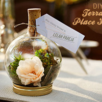 DIY: Terrarium Place Holder | Green Wedding Shoes Wedding Blog | Wedding Trends for Stylish +  Creative Brides