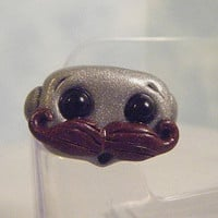 Mustache Robot Ring by sleepyrobot13 on Etsy