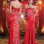 2012 Red Strapless Silk Prom Dresses PDM158 -Shop offer 2012 wedding dresses,prom dresses,party dresses for girls on sale. #Category#