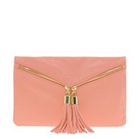 ASOS Double Tassel Zip Clutch at asos.com