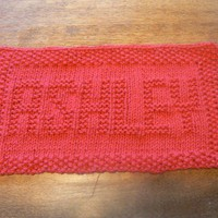 Ashley a Personalized Hand Knit All Cotton Washcloth or Dishcloth