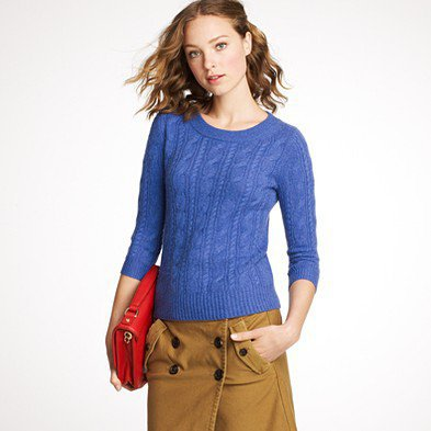 Women's sweaters - cables - Cashmere cable sweater - J.Crew