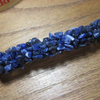 Wire Wrapped Sodalite Beaded Barrette Hair Clip