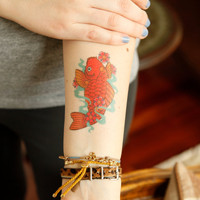 Koi Temporary Tattoo for Charity