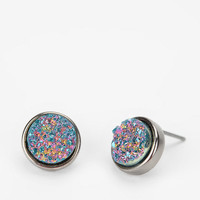 Druzy Stone Earring- Gold One
