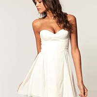 ASOS | ASOS Bandeau Skater Dress with Sweetheart neckline at ASOS