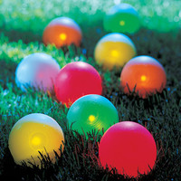 The Lighted Bocce Ball Set - Hammacher Schlemmer