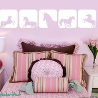 Unicorn Horse Squares Vinyl Wall Art Graphics by thestickerhut