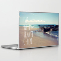 Eat Well Travel Often Laptop & iPad Skin by Sabine Doberer | Society6