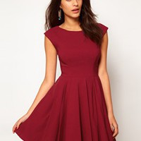 ASOS 50&#x27;s Seamed Full Skater Dress at asos.com