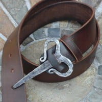 Nordic viking buckle belt - good for re-enactors, unusual artisan belt