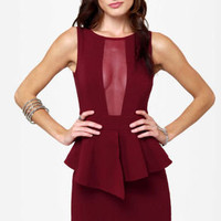 Look at This Mesh Burgundy Dress