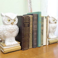 owls of wisdom bookends - $49.99 : ShopRuche.com, Vintage Inspired Clothing, Affordable Clothes, Eco friendly Fashion