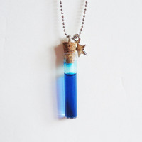 MANA POTION VIAL - with star - necklace