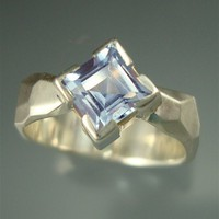 Blue Ice PrincessAquamarine Ring by daniellejewelry on Etsy