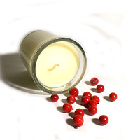 Cranberry Soy Candle - Sweet and Tart, perfect holiday scent for your home