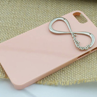 Pink One Direction iPhone Cases, Infinity Directioner Charm iPhone 5 Case, iPhone 5 Hard Case