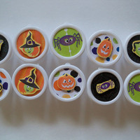 Trick or Treat Favors in a cup, Classroom treats for Halloween fun (Set of 10)