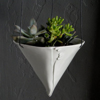 Porcelain Hanging Planter by taylorceramics on Etsy