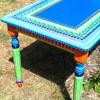 Kitchen Table- Custom Hand Painted Furniture Made to order