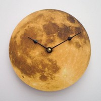 Harvest Moon Clock by CyberMoon on Etsy