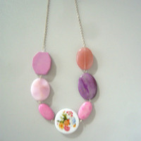 New hot pink necklace series 2