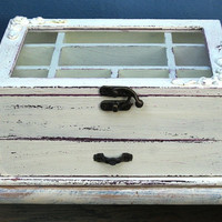 Cream Shabby Chic Wooden Jewelry Box