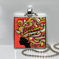 Maroon 5 Songs About Jane Album Cover Art Square Tile Pendant Necklace