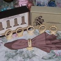 Pfaltzgraff Vintage Village Napkin Rings Holders Cuffs