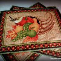 Autumn Harvest Thanksgiving large Placemat or Table Center Piece