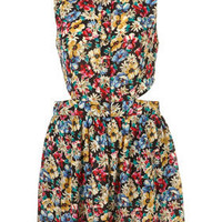 Multi Mixed Floral Print Cutout Shirtdress - Dresses - Clothing - Topshop USA