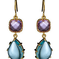 Alvina Abramova Olivia Earrings in Aqua and Amethyst - Max and Chloe
