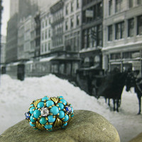 Gold Turquoise Bombe Ring | Shop | Erstwhile Jewelry Co.