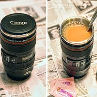 camera lens Cup with Creative Canon camera preventing water leakage cup by iphone5vip