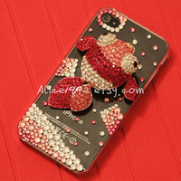 ADORABLE Iphone 4 case with swarovski crystal wave by Alice1992
