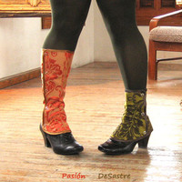 Waterproof victorian Short Spats Boot Women steampunk one size