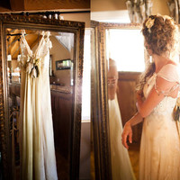 Hippie Chic Meets Jane Austen Vintage Barn Wedding with 1800s Details by Aaron Shintaku
