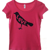 Love Bird Scoopneck Top in Raspberry XLarge by dirTapparel