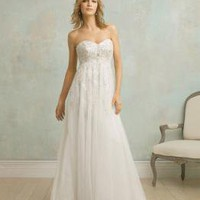 Embroidery Empire Waist Couture Vintage Wedding Dresses