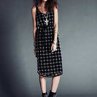 Free People FP New Romantics Material Girl Lattice Dress