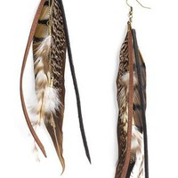 Carole Tufted Feather Earrings | Nordstrom