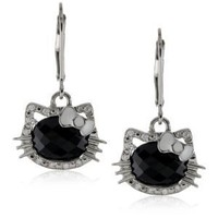 "Amazon.com: Hello Kitty by Simmons Jewelry Co. ""Silhouette"" Silver And Gold Earring: Jewelry"